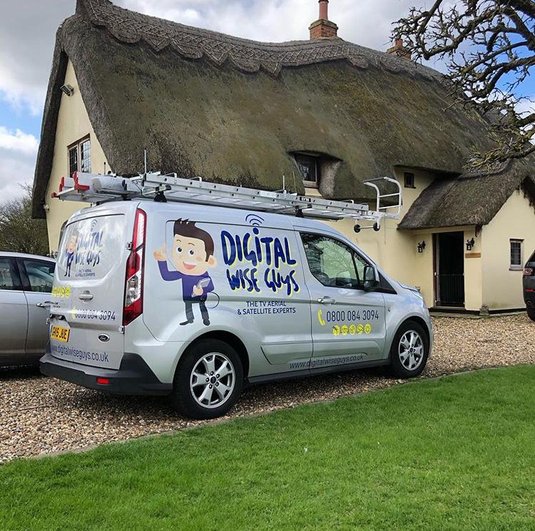 The Digital Wise Guys van on site!
